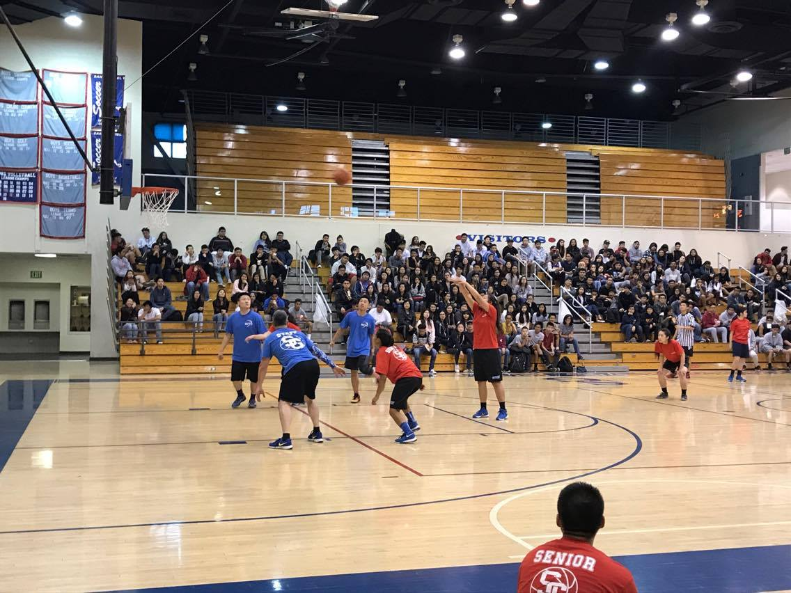 Staff conquers class in annual, competitive basketball game