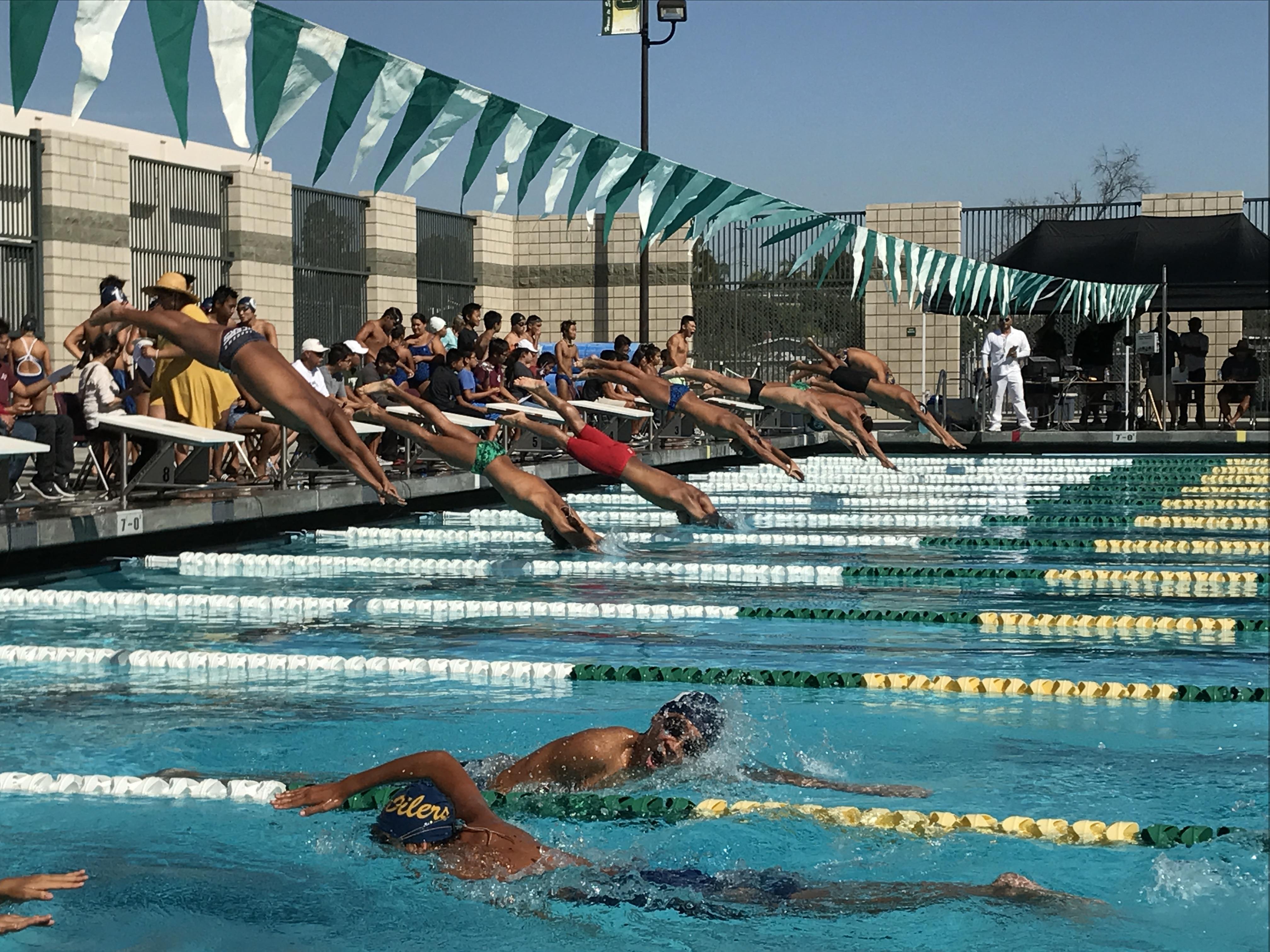 Swim splashes season as fourth in league