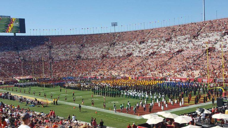 Matador Marching Band performs at USC Band Day