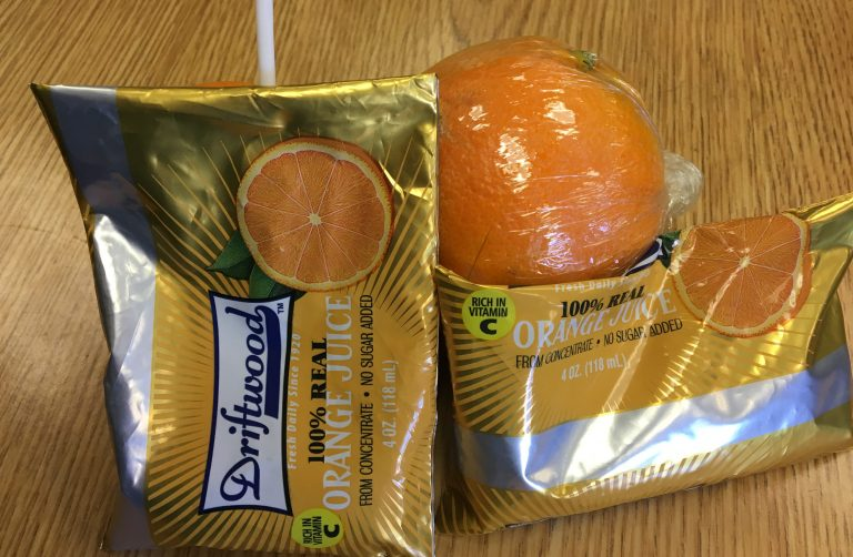 Bagged orange juice flops