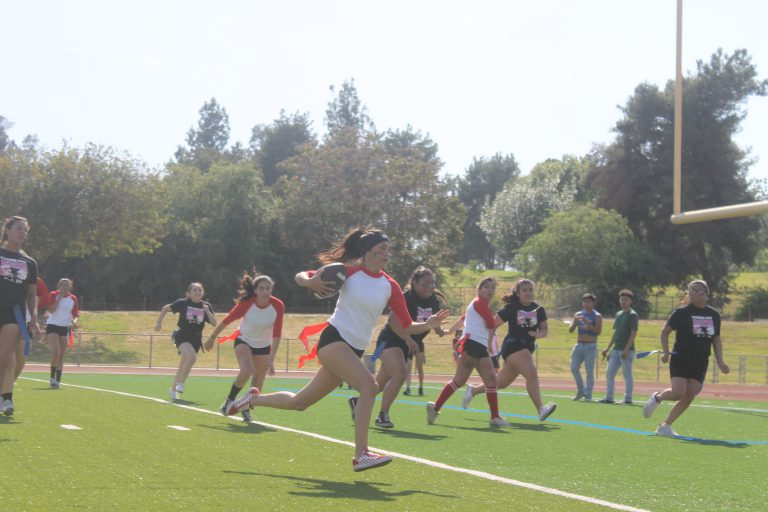 Seniors triumph victoriously in competitive Powderpuff game