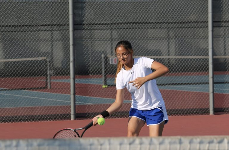 Varsity girls tennis sets sail to defeat Vikings in CIF after three year drought