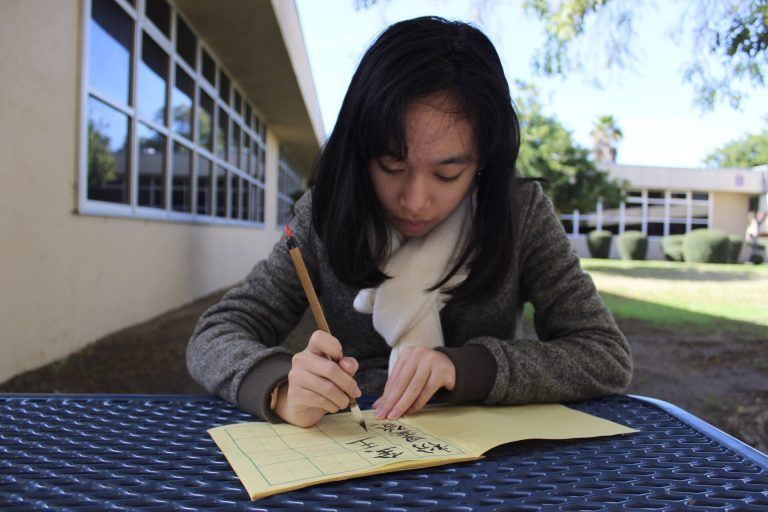 Luu carries on practice of Chinese calligraphy