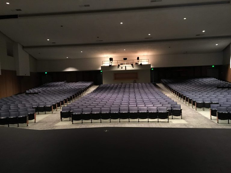 Auditorium closes for inspection