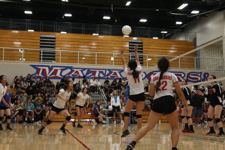 Girls varsity volleyball defeated by slim margin