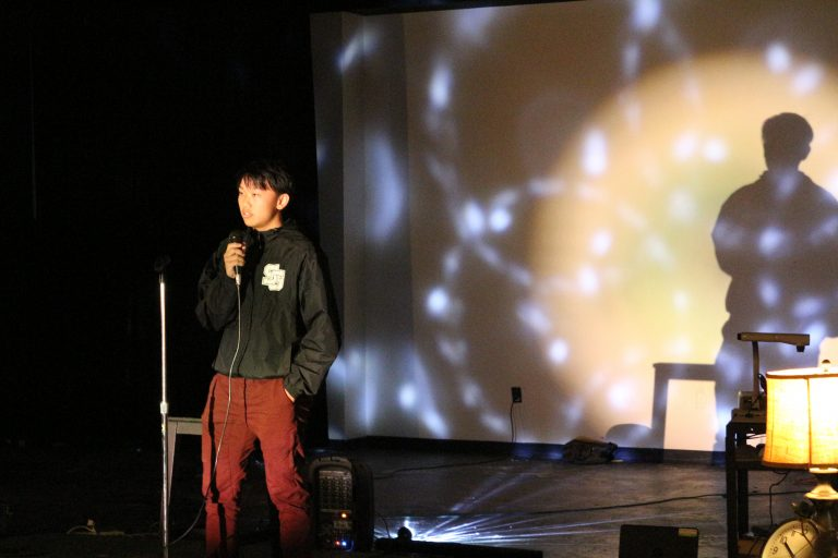 Students take the stage at Open Mic Night